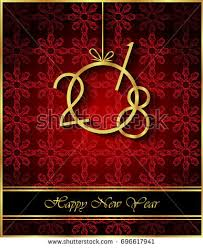 happy new year invitation 2018 happy new year background your stock vector 713296378