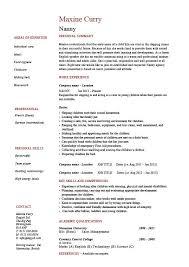 Resume Draft Sample by Babysitter Resume Sample Resume Example