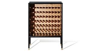 halo solid timber wine storage cabinet with marble handle