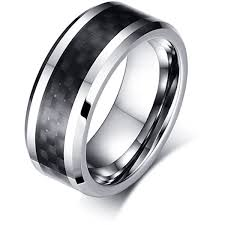 manly wedding bands the darth vader tungsten carbide w carbon fibre wedding band