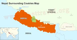 Map Of France And Surrounding Countries by Where Is Nepal Located On Map Nepal Map In Asia And World