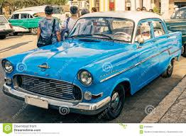 opel old vintage blue opel in havana cuba editorial photo image 87268461