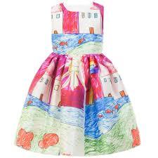 girls dresses children clothing character painting 2015 luxury