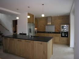 plan de travail cuisine chene massif meubles de rangement design moderne