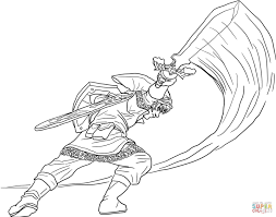 the legend of zelda skyward sword coloring page free printable