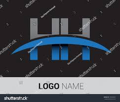 hh initial logo company name colored stock vector 679594891