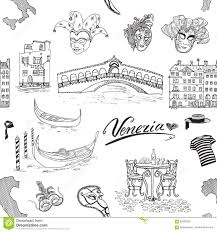 Map Venice Italy by Venice Italy Seamless Pattern Hand Drawn Sketch With Map Of Italy