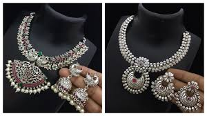 silver necklace set images German silver finished necklace set collections with price 1 jpg