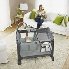 baby trend go lite elx nursery center drip drop blue and gray ebay