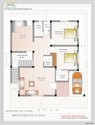 three bedroom ground floor plan duplex house plans india of impressive plan and elevation 2349 sq ft