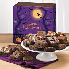 halloween morsel 24 halloween gourmet brownie gift baskets delivered