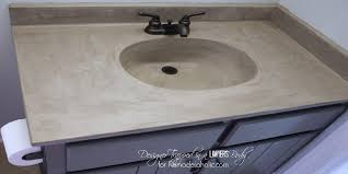 how to build a concrete sink remodelaholic diy concrete vanity with integral sink