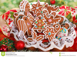 homemade gingerbread cookies for christmas tree royalty free stock