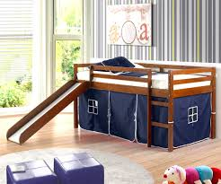 loft bunk bed with slide and tent for kids decofurnish fancy