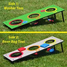 amazon com gosports 3 hole washer toss tailgate game