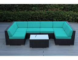 Chicago Wicker Patio Furniture - sunbrella aruba with black wicker ohana wicker furniture