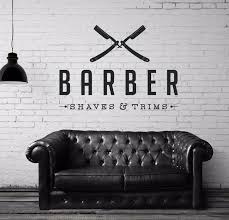 vinyl wall decal sticker bedroom barber shop company name hair