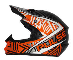 black motocross helmet tornado helmet reflex orange u0026 black goggles pulse mx