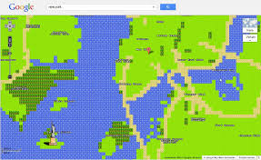 Goofle Map Retro Spaß Pixel Alarm Bei Google Maps Express De
