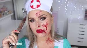 blood splatter tutorial nurse halloween makeup tutorial