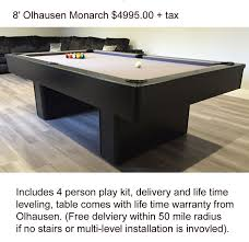 olhausen 7 pool table olhausen pool tables california billiard supply