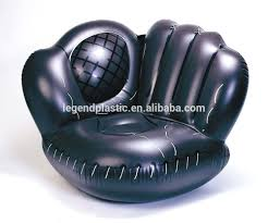 pvc inflatable chaise lounge flocked lounge sofa chair for sale