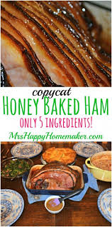 honey baked ham mrs happy homemaker