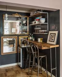 Bar Wall Shelves by Rustic Industrial Bar 2014 Hgtv