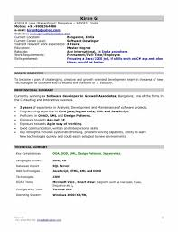 Free Sample Resume For Software Engineer 100 Best Sample Resume India Cv Templates In Word India 100