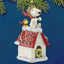 2017 lenox snoopy the flying ace porcelain ornament sterling