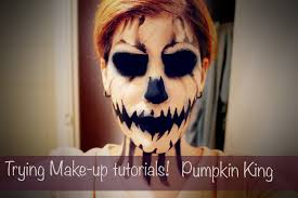Nightmare Before Christmas Halloween Makeup by Trying Make Up Tutorials Madeyewlook Pumpkin King Halloween