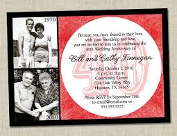 amazing ruby wedding anniversary invitation cards 91 about remodel