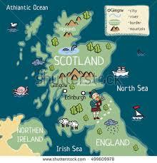 map of scotland and map scotland stock illustration 528275068