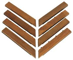 u snap corner interlocking flooring solid teak wood set of