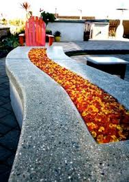 Fire Pit Glass Rocks by Outdoor Seating Next To The Fire Pit And The Waterfall Feature