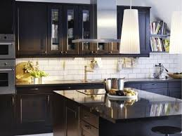 Best Kitchen Backsplash Ideas With Black Cabinets My Home Design - Best kitchen backsplashes