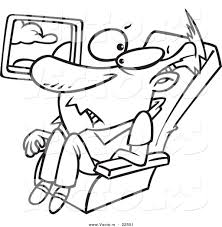 vector of a cartoon confined man on an airplane coloring page