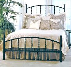 Iron Rod Bed Frame Size Antique Style Wood Metal Wrought Iron Look Rustic