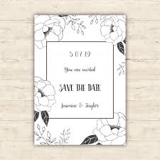 save the date designs floral save the date card design vector free
