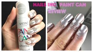 nails inc paint can spray paint varnish tutorial and review youtube