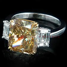 brown diamond engagement ring 6 38ct brown diamond engagement ring radiant cut radiant
