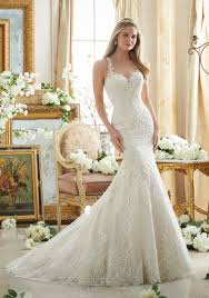 mori bridal lace on soft net with wide hemline wedding dress style 2876