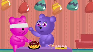 gummy bear make a birthday cake for baby bear nursery rhymes