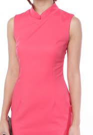 abundant blessings mandarin collar dress in coral pink flymetoparis