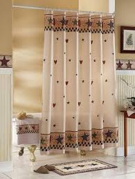 Country Bathroom Shower Curtains Country Primitive Hearts Shower Curtain Primitive Decor