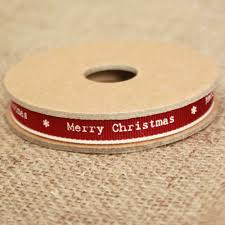 east of india merry christmas ribbon red white edging narrow 3m