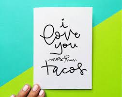 i love tacos card etsy