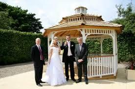 register for wedding online garden gazebo offers couples the chance of an al fresco wedding