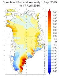 Greenland Map April 2016 Greenland Ice Sheet Today