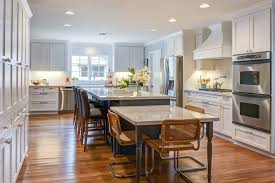 kitchen island with attached table table attached to island kitchen traditional with ceiling detail